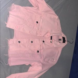 Denim pink jacket